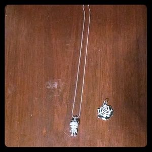 Bundle of gorgeous frog necklace and rose charm